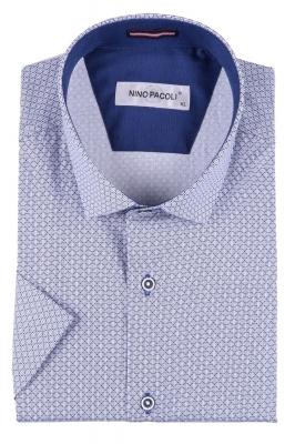 Мужская рубашка в мелкий рисунок, короткий рукав  (Арт. T 3304К)