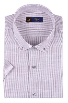 Мужская рубашка в полоску, короткий рукав  (Арт. T 3305К)