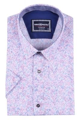 Мужская рубашка в мелкий рисунок, короткий рукав  (Арт. T 3316К)