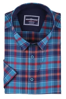 Мужская рубашка в клетку, короткий рукав  (Арт. T 3321К)