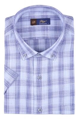 Мужская рубашка в клетку, короткий рукав  (Арт. T 3324К)