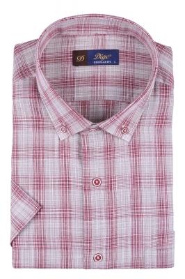 Мужская рубашка в клетку, короткий рукав  (Арт. T 3325К)