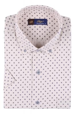 Мужская рубашка в рисунок, короткий рукав  (Арт. T 3327К)