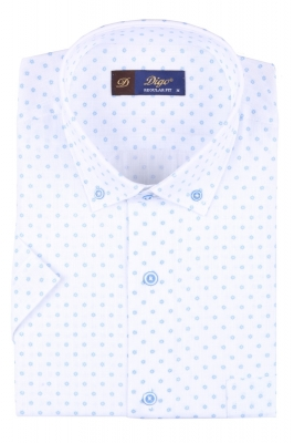 Мужская рубашка в рисунок, короткий рукав  (Арт. T 3329К)