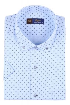 Мужская рубашка в рисунок, короткий рукав  (Арт. T 3330К)