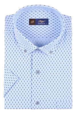 Мужская рубашка в рисунок, короткий рукав  (Арт. T 3333К)