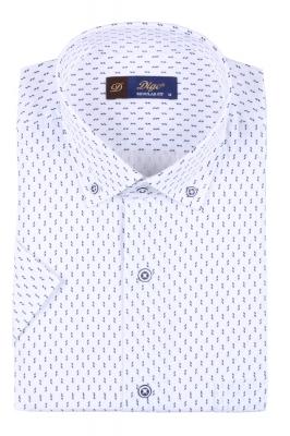 Мужская рубашка в рисунок, короткий рукав  (Арт. T 3335К)