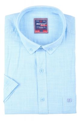 Мужская рубашка в мелкую клетку, короткий рукав  (Арт. T 3388К)