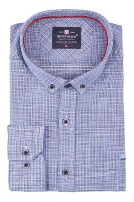 Стильная мужская рубашка, длинный рукав  (Арт. T 3396)