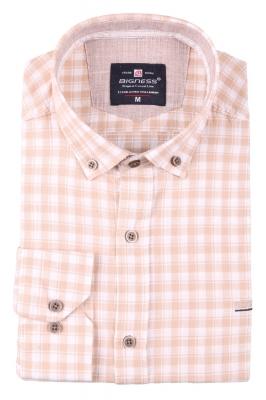 Стильная мужская рубашка в клетку, длинный рукав  (Арт. T 3400)