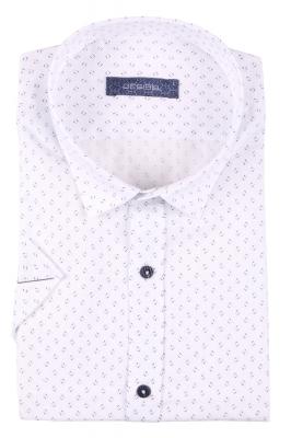 Стильная мужская рубашка в рисунок, короткий рукав  (Арт. T 3407К)