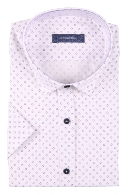 Стильная мужская рубашка в рисунок, короткий рукав  (Арт. T 3408К)