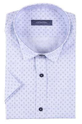 Стильная мужская рубашка в рисунок, короткий рукав  (Арт. T 3409К)