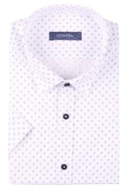Стильная мужская рубашка в рисунок, короткий рукав  (Арт. T 3410К)