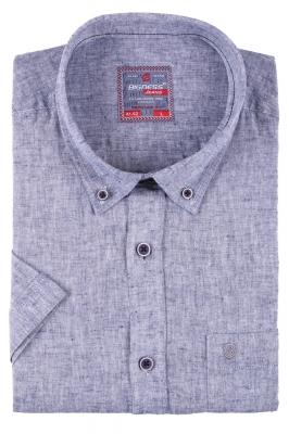 Мужская однотонная рубашка, короткий рукав  (Арт. T 3411К)