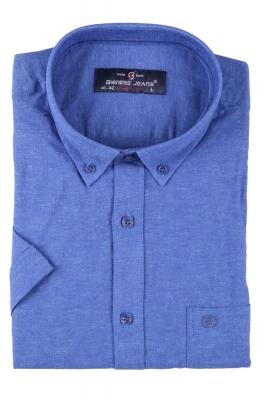 Мужская однотонная рубашка, короткий рукав  (Арт. T 3413К)