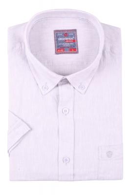 Мужская однотонная рубашка, короткий рукав  (Арт. T 3414К)
