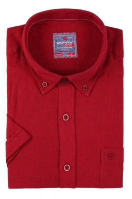 Мужская однотонная рубашка, короткий рукав  (Арт. T 3416К)