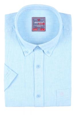Мужская однотонная рубашка, короткий рукав  (Арт. T 3417К)