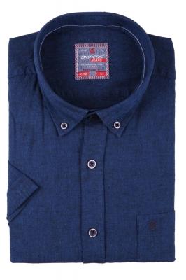 Мужская однотонная рубашка, короткий рукав  (Арт. T 3418К)