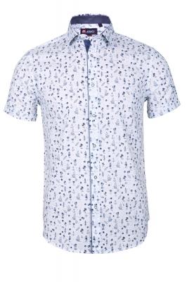 Мужская стильная рубашка в рисунок, короткий рукав  (Арт. T 3340К)