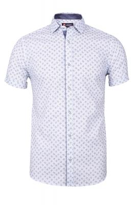 Мужская стильная рубашка в рисунок, короткий рукав  (Арт. T 3341К)