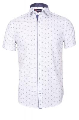 Мужская стильная рубашка в рисунок, короткий рукав  (Арт. T 3342К)