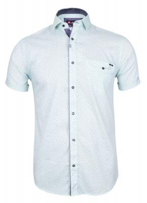 Мужская стильная рубашка в рисунок, короткий рукав  (Арт. T 3343К)