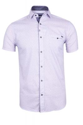 Мужская стильная рубашка в рисунок, короткий рукав  (Арт. T 3344К)