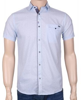 Мужская стильная рубашка в рисунок, короткий рукав  (Арт. T 3345К)
