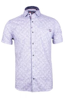 Мужская стильная рубашка в рисунок, короткий рукав  (Арт. T 3346К)