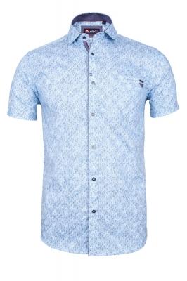 Мужская стильная рубашка в рисунок, короткий рукав  (Арт. T 3347К)