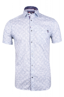 Мужская стильная рубашка в рисунок, короткий рукав  (Арт. T 3348К)