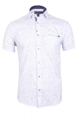 Мужская стильная рубашка в рисунок, короткий рукав  (Арт. T 3349К)
