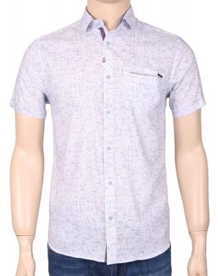 Мужская стильная рубашка в рисунок, короткий рукав  (Арт. T 3351К)