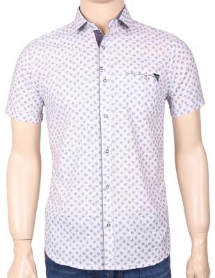 Мужская стильная рубашка в рисунок, короткий рукав  (Арт. T 3352К)