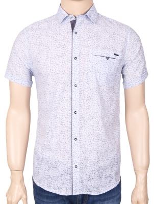 Мужская стильная рубашка в рисунок, короткий рукав  (Арт. T 3354К)
