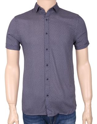 Мужская стильная рубашка в рисунок, короткий рукав  (Арт. T 3358К)