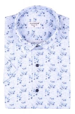 Мужская стильная рубашка в рисунок, короткий рукав  (Арт. T 3421К)