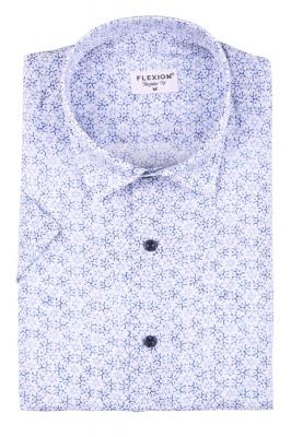 Мужская стильная рубашка в рисунок, короткий рукав  (Арт. T 3422К)