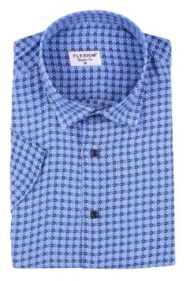 Мужская стильная рубашка в рисунок, короткий рукав  (Арт. T 3425К)