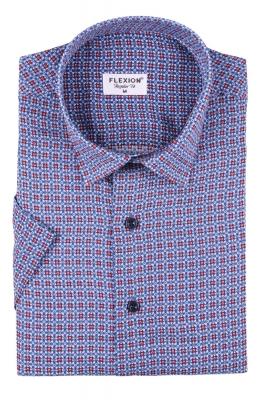 Мужская стильная рубашка в рисунок, короткий рукав  (Арт. T 3426К)