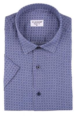 Мужская стильная рубашка в рисунок, короткий рукав  (Арт. T 3427К)