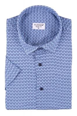 Мужская стильная рубашка в рисунок, короткий рукав  (Арт. T 3428К)