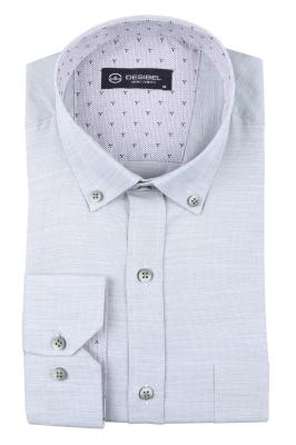 Мужская однотонная классическая рубашка, длинный рукав  (Арт. T 3446)