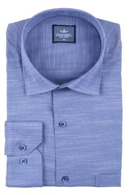 Мужская однотонная классическая рубашка, длинный рукав  (Арт. T 3449)