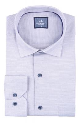 Мужская однотонная классическая рубашка, длинный рукав  (Арт. T 3450)