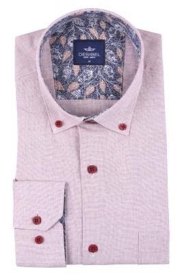 Мужская однотонная классическая рубашка, длинный рукав  (Арт. T 3451)