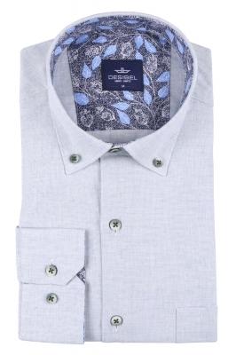 Мужская однотонная классическая рубашка, длинный рукав  (Арт. T 3452)