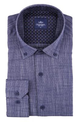 Мужская однотонная классическая рубашка, длинный рукав  (Арт. T 3457)